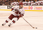 Sean Malone (Harvard - 17) - The Harvard University Crimson defeated the Northeastern University Huskies 4-3 in the opening game of the 2017 Beanpot on Monday, February 6, 2017, at TD Garden in Boston, Massachusetts.