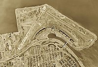 historical aerial photo map  LaGuardia International Airport Queens New York 1954