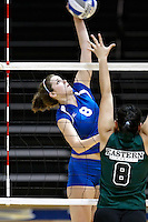 SAN ANTONIO, TX - AUGUST 29, 2008: The Eastern New Mexico University Zias vs. the St. Mary's University Rattlers Women's Volleyball at the Bill Greehey Arena. (Photo by Jeff Huehn)