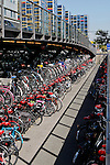 The Bicyle rack outside of the Train Station in Leiden, Holland