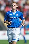 St Johnstone FC Season 2013-14<br /> Liam Caddis<br /> Picture by Graeme Hart.<br /> Copyright Perthshire Picture Agency<br /> Tel: 01738 623350  Mobile: 07990 594431