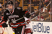 Ryan Shea (NU - 5) - The Harvard University Crimson defeated the Northeastern University Huskies 4-3 in the opening game of the 2017 Beanpot on Monday, February 6, 2017, at TD Garden in Boston, Massachusetts.