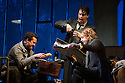 London, UK. 27.10.2014. Jonathan Miller's production, for English National Opera, of LA BOHEME, by Giacomo Puccini, opens at the London Coliseum. Rising star soprano, Angel Blue, makes her role debut as Mimi. Picture shows: George von Bergen (Marcello), David Butt Philip (Rodolfo) and Barnaby Rea (Colline). Photograph © Jane Hobson.