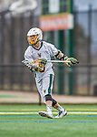 18 April 2015:  University of Vermont Catamount Attacker James Barlow, a Junior from Glastonbury, CT, in action against the University of Hartford Hawks at Virtue Field in Burlington, Vermont. The Cats defeated the Hawks 14-11 in the final home game of the 2015 season. Mandatory Credit: Ed Wolfstein Photo *** RAW (NEF) Image File Available ***