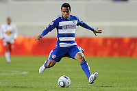 David Ferreira (10) of FC Dallas. The New York Red Bulls defeated FC Dallas 2-1 during a Major League Soccer (MLS) match at Red Bull Arena in Harrison, NJ, on April 17, 2010.