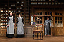 HOBSON's CHOICE, by Harold Brighouse, opens at the Vaudeville theatre in the West End. Directed by Jonathan Church, with lighting design by Tim Mitchell and set & costume design by Simon Higlett. Picture shows: Naomi Frederick (Maggie Hobson), Gabrielle Dempsey (Vicky Hobson), Martin Shaw (Henry Horatio Hobson)