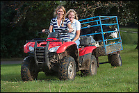 BNPS.co.uk (01202 558833)<br /> Pic: PhilYeomans/BNPS<br /> <br /> Carol with daughter Harriet (25) who Is in charge of the day to day running of the family farm.<br /> <br /> Far from the Madding Crowd - Land Girls...Plucky mum and her daughters running the family farm in the heart of Dorset.<br /> <br /> Widow Carol Besent is getting a bumper harvest in this year with the help of her three daughters Georgina, Harriet and Katy.<br /> <br /> Carol's husband died four years ago and rather than give up the family farm Carol and her daughters have taken the unusual step of running the 700 acre mixed arable and dairy farm themselves.
