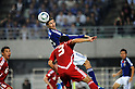(T-B)  Mike Havenaar (JPN), Sohib Savankulov (TJK),.OCTOBER 11, 2011 - Football / Soccer :.2014 FIFA World Cup Asian Qualifiers Third round Group C match between Japan 8-0 Tajikistan at Nagai Stadium in Osaka, Japan. (Photo by Takahisa Hirano/AFLO)