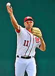 4 March 2012: Washington Nationals third baseman Ryan Zimmerman warms up prior to a game against the Houston Astros at Space Coast Stadium in Viera, Florida. The Astros defeated the Nationals 10-2 in Grapefruit League action. Mandatory Credit: Ed Wolfstein Photo