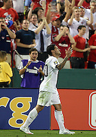 Santino Quaranta #20 of the USA after scoring the winning goal during a CONCACAF Gold Cup match against Honduras at RFK Stadium on July 8 2009 in Washington D.C. USA won the match 2-0.