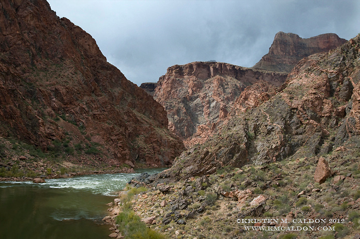 Tuna Rapid and the Inner Gorge of Grand Canyon.