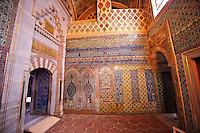 Ottoman Isnik tiles decorations in the Harem of the Topkapi Palace, Istanbul Turkey
