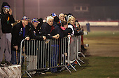 Fans watch the action from the centre green - Lakeside Hammers Open Evening at the Arena Essex Raceway, Pufleet - 23/03/12 - MANDATORY CREDIT: Rob Newell/TGSPHOTO - Self billing applies where appropriate - 0845 094 6026 - contact@tgsphoto.co.uk - NO UNPAID USE..