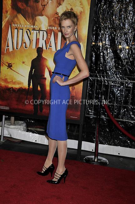 WWW.ACEPIXS.COM . . . . .....November 24, 2008. New York City.....Kylie Bax attends the 'Australia' Premiere held at the Ziegfeld Theater on November 24, 2008 in New York City...  ....Please byline:  AJ Sokalner - ACEPIXS.COM..... *** ***..Ace Pictures, Inc:  ..Philip Vaughan (646) 769 0430..e-mail: info@acepixs.com..web: http://www.acepixs.com
