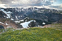 Alpine environment in the Beartooth Mountains in the Shoshone National Forest Wyoming