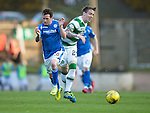 St Johnstone v Celtic&hellip;.McDiarmid Park, Perth.. 11.05.16<br />Danny Swanson is fouled by Stefan Johansen<br />Picture by Graeme Hart.<br />Copyright Perthshire Picture Agency<br />Tel: 01738 623350  Mobile: 07990 594431