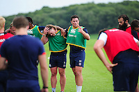 Francois Louw of Bath Rugby speaks to his team-mates. Bath Rugby pre-season training session on August 9, 2016 at Farleigh House in Bath, England. Photo by: Patrick Khachfe / Onside Images