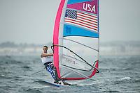 2012 Olympic Games London / Weymouth.RSX man racing day 1 .RS:X MenUSAWillis Robert