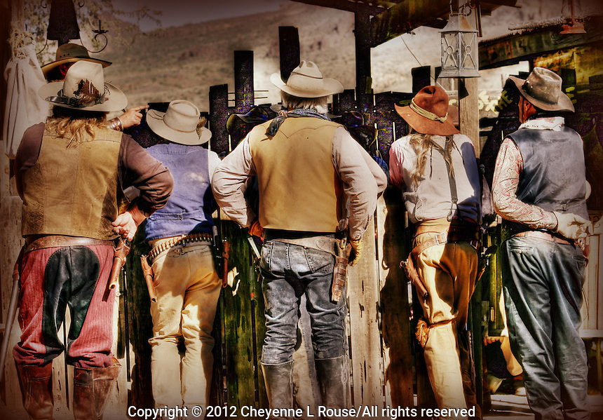 Gunfighters - Cowboys at Goldfield Ghost Town in Goldfield Arizona