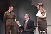 The Patriotic Traitor <br /> at Park Theatre, London, Great Britain <br /> press photocall <br /> 18th February 2016 <br /> <br /> Laurence Fox as Charles de Gaulle <br /> Tom Mannion as Lord Halifax <br /> <br /> Photograph by Elliott Franks <br /> Image licensed to Elliott Franks Photography Services