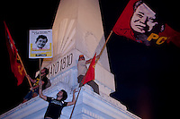 People take part of a protest during a Demonstration led by the 'Madres de Plaza de Mayo'  to commemorate the 37th anniversary of the coup of 1976, at Plaza de Mayo square in Buenos Aires on March 24, 2013. Photo by Juan Gabriel Lopera / VIEWpress.