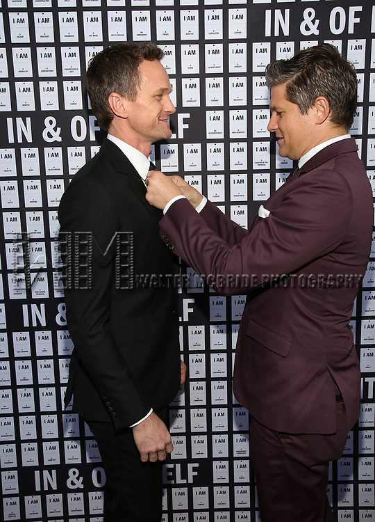 Neil Patrick Harris and David Burtka attends the Opening Night 'In & Of Itself' at the Daryl Roth Theatre on April 12, 2017 in New York City
