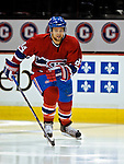 3 February 2007: Montreal Canadiens right wing forward Guillaume Latendresse warms up prior to facing the New York Islanders at the Bell Centre in Montreal, Canada. The Islanders defeated the Canadiens 4-2.Mandatory Photo Credit: Ed Wolfstein Photo *** Editorial Sales through Icon Sports Media *** www.iconsportsmedia.com
