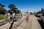 California: San Francisco. Young bicyclists at Alamo Square. Photo copyright Lee Foster. Photo #: san-francisco-alamo-square-20-casanf79126
