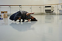 "Choreographer and dancer, Salah el Brogy, in the rehearsal studio at The Place, preparing for Resolution 2016, where he will present his new work, ""Glitch""."