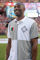 Basketball star Kobe Bryant during the half time  presentation. Manchester United defeated Barcelona FC 2-1 at FedEx Field in Landover, MD Saturday July 30, 2011.
