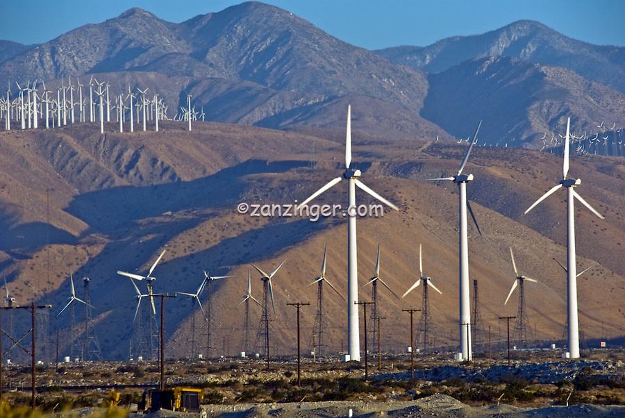 Palm Springs, CA, Wind Turbines, Green, Energy, field, farm, North Palm Springs, CA, San Gorgonio Pass, Coachella Valley, turbines, California