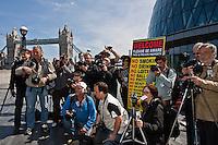 03.05.2011 - NUJ's LPB flash mob outside London City Hall