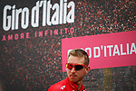 Bauke Mollema (NED) Trek-Segafredo at sign on before the start of Stage 6 of the 100th edition of the Giro d'Italia 2017, running 217km from Reggio Calabria to Terme Luigiane, Italy. 11th May 2017.<br /> Picture: LaPresse/Simone Spada   Cyclefile<br /> <br /> <br /> All photos usage must carry mandatory copyright credit (&copy; Cyclefile   LaPresse/Simone Spada)