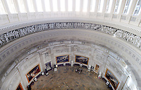 The Rotunda of the US Capitol is seen from the newly-restored Capitol Dome in Washington, DC, November 15, 2016. <br /> Credit: Olivier Douliery / Pool via CNP /MediaPunch
