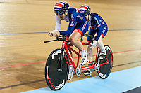 Picture by Alex Whitehead/SWpix.com - 04/03/2017 - Cycling - UCI Para-cycling Track World Championships - Velo Sports Center, Los Angeles, USA - Great Britain's Aileen McGlynn (piloted by Louise Haston)