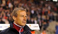 Jurgen Klinsmann, coach of team USA, during the friendly match Belgium against USA at King Baudoin stadium in Brussel, Belgium on September 06th, 2011.