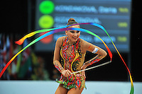 Daria Kondakova of Russia performs at 2011 World Cup at Portimao, Portugal on April 30, 2011.