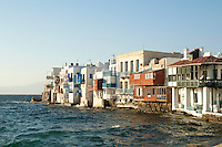 Mykonos is a Greek island, part of the Cyclades, lying between Tinos, Syros, Paros and Naxos. The island spans an area of 85.5 km&sup2; and rises to an elevation of 341 m at its highest point.