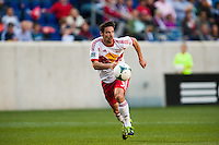 Heath Pearce (3) of the New York Red Bulls. The New York Red Bulls and the Columbus Crew played to a 2-2 tie during a Major League Soccer (MLS) match at Red Bull Arena in Harrison, NJ, on May 26, 2013.