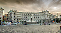Fine Art Print Photograph of the Piazza della Repubblica in Rome. The former name of the piazza, Piazza dell'Esedra, is still very common today.<br />