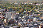 May 16, 2011; Downtown South Bend, Indiana with Notre Dame campus in the background...Photo by Matt Cashore/University of Notre Dame