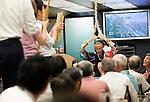 "Seinosuke Matsuno provides traditional entertainment aboard a ""yakata-bune"" pleasure boat named ""Kachidoki"", which is operated by Harumiya Co. in Tokyo, Japan on 31 August  2010. .Photographer: Robert Gilhooly"
