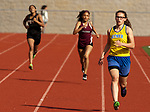 NAUGATUCK,  CT-051617JS15- Seymour's Patricia Jurkowski, runs to a first place finish in the 400m run during their meet with Naugatuck and WCA Tuesday at Naugatuck High School. <br />  Jim Shannon Republican-American