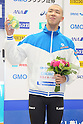 Yosuke Miyamoto, September 4, 2011 - Swimming : Yosuke Miyamoto celebrates his second place during the Intercollegiate Swimming Championships, men's 1500m Free style medal ceremony at Yokohama international pool, Kanagawa. Japan. (Photo by Yusuke Nakanishi/AFLO SPORT) [1090]