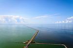 Nederland, Noord-Holland, Den Oever, 05-08-2014; Afsluitdijk  gezien vanuit Friesland richting Noord-Holland. Kornwerderzand.  Rechts Waddenzee, links IJsselmeer.<br /> Enclosure Dam in the direction of the coast of North Holland. Frisian coast.  Right Waddenzee, IJsselmeer left..<br /> luchtfoto (toeslag op standaard tarieven);<br /> aerial photo (additional fee required);<br /> copyright foto/photo Siebe Swart.