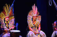 MIAMI, FL - SEPTEMBER 29: KenewecÌ and Meu performs during the Journey to Mutum: A Cultural Encounter with the Yawanaw· Tribe of the Brazilian Amazon at Miami Theater Center on September 29, 2016 in Miami, Florida. Credit: MPI10 / MediaPunch