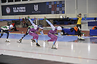 SPEED SKATING: SALT LAKE CITY: 18-11-2015, Utah Olympic Oval, ISU World Cup, training, Thomas Krol (NED), Kai Verbij (NED), ©foto Martin de Jong