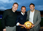 St Johnstone Player of the Year Awards.....06.05.12.Jody Morris wins the Goal of the Season Award from the We Are Perth forum, pictured with Steve Watt.Picture by Graeme Hart..Copyright Perthshire Picture Agency.Tel: 01738 623350  Mobile: 07990 594431