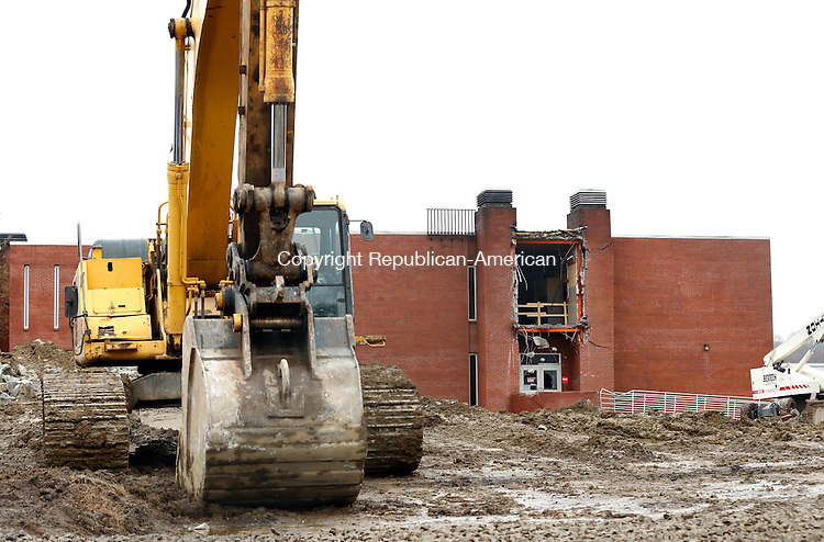 Waterbury, CT- 10 April 2015-041015CM06-   A section of  Founder's Hall at Naugatuck Valley Community College is partially renovated on Friday. The college will be holding a groundbreaking for a renovation project of Founder's Hall. Christopher Massa Republican-American