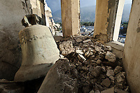 Bell lying amongst rubble in Port-au-Prince's heavily damaged cathedral, Port-au-Prince, Haiti. EDV is committed to affecting permanent change in disaster-affected communities worldwide. Their role is to facilitate personal connections between volunteers and the survivors of disasters.  The charity is based on a proven model developed by several landmark organisations that have paved the way for citizens to become disaster volunteers. These landmark organisations have shown that supposedly ordinary people working together with the guidance of knowledgeable leaders can make an extraordinary difference in the lives of those affected by disaster..EDV believe that to provide meaningful relief and reconstruction assistance to disaster affected communities they have to do more than reconstruct buildings. They need to understand and address the factors that made a community vulnerable to the disaster in the first place. The charity's work is organised with these factors in mind so that they can affect change that far outlives their presence..EDV believes that survivor motivation is essential to the recovery of any disaster-affected community. Their operations will always be predicated on the idea that survivors may be traumatised, but they are not helpless. With this in mind, EDV encourages host communities to direct their own recovery. EDV believe that this empowerment is essential in helping survivors feel a renewed sense of control over their lives which will, in turn, help overcome the feelings of hopelessness that can follow a disaster and inhibit long term recovery. EDV also believe that social cohesion is of primary importance in any disaster-affected area. No amount of bricks or mortar will bring about sustainable improvement if communities fail to come together or are disrupted by relief efforts. Therefore, their operations will always aim to foster communication and cooperation within and between the communities they serve.